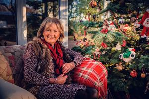 Jenny Bristow at home in Cullybackey with her dogs Scamp (small one) and Major (big one) on December 15th 2020 (Photo by Kevin Scott for Belfast Telegraph)