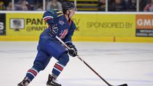 Belfast Giants defenceman Paul Swindlehurst in action for Great Britain (MB Media/Getty Images)