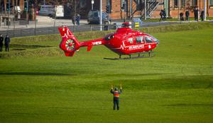 The Northern Ireland Air Ambulance takes its first flight in Belfast on November 9th 2016 , Northern Ireland (Photo by Kevin Scott / Belfast Telegraph)