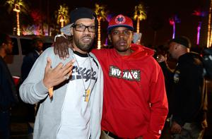 INDIO, CA - APRIL 14:  Rapper Redman (R) attends day 3 of the 2013 Coachella Valley Music & Arts Festival at the Empire Polo Club on April 14, 2013 in Indio, California  (Photo by Frazer Harrison/Getty Images for Coachella)