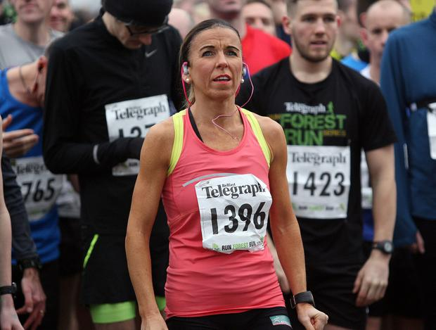 Mandatory Credit - Picture by Freddie Parkinson/Press Eye © Saturday 3rd December 2016 Belfast Telegraph Run Forest Run Loughgall. Loughgall Country Park, 11-14 Main Street, Loughgall, Armagh. Cathy McCourt Lisburn