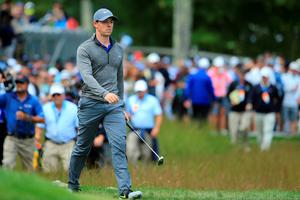 NORTON, MA - SEPTEMBER 05:  Rory McIlroy of Northern Ireland walks on on the 16th green during the final round of the Deutsche Bank Championship at TPC Boston on September 5, 2016 in Norton, Massachusetts.  (Photo by Maddie Meyer/Getty Images)