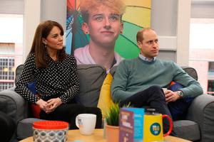 The Duke and Duchess of Cambridge during a visit to mental health charity Jigsaw, at Temple Bar in Dublin, as part of their three day visit to the Republic of Ireland. PA Photo. Picture date: Wednesday March 4, 2020. See PA story ROYAL Cambridge. Photo credit should read: Brian Lawless/PA Wire