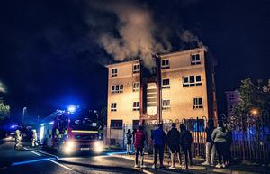 Firefighters tackle a fire in a block of flats in the Shaw's Road area of west Belfast on May 24th 2020 (Photo by Kevin Scott for Belfast Telegraph)