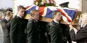 The funeral of John Larmour