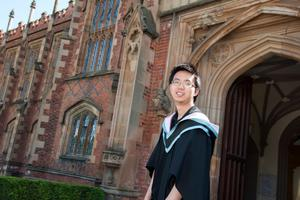 Malaysian student Yin Kitt Ervin Chin who is graduating with a degree in Actuarial Science and Risk Management from Queen's University.