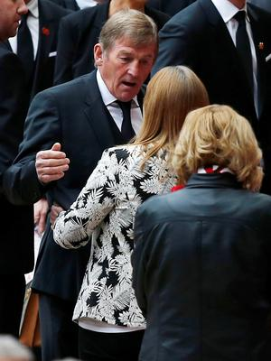 Former Liverpool player and manager Kenny Dalglish arrives for the last memorial service to be held at Anfield, Liverpool, to mark 27 years to the day since the tragedy claimed 96 lives. PRESS ASSOCIATION Photo. Picture date: Friday April 15, 2016. The 96 Liverpool fans died in the crush on the Leppings Lane terraces at Sheffield Wednesday's Hillsborough stadium after going to see their team play Nottingham Forest in an FA Cup semi-final on April 15, 1989. See PA story MEMORIAL Hillsborough. Photo credit should read: Peter Byrne/PA Wire