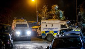 Special firearms officers attend an incident at the Forthriver Dale area of Belfast on March 31st 2020 (Photo by Kevin Scott for Belfast Telegraph)