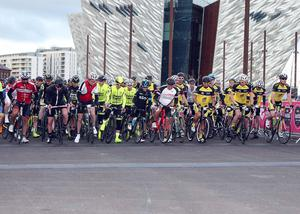 Gearing up for the start of the Gran Fondo. Pic: Freddie Parkinson/Press Eye.