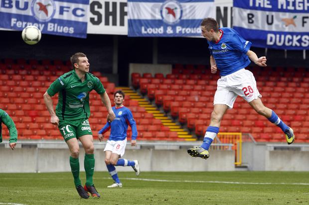 McMenamin made his only Premiership start for Linfield against Ballinamallard at Windsor.