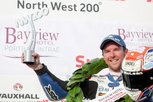 PressEye - Belfast - Northern Ireland - 11th May 2017  Vauxhall International North West 200 Thursday Race  Pictured: Superstock race winner Alastair Seeley.  Picture: Philip Magowan / PressEye
