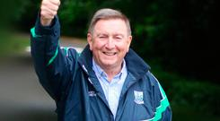 Thumbs up: Fr Brian D'Arcy is a passionate supporter of Fermanagh