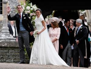 Pippa Middleton and James Matthews leave St Mark's church in Englefield, Berkshire, following their wedding. PRESS ASSOCIATION Photo. Picture date: Saturday May 20, 2017. See PA story ROYAL Pippa. Photo credit should read: Kirsty Wigglesworth/PA Wire