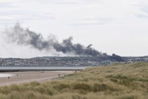 The fire broke out shortly before 2.30pm. Credit: Michael Cooper