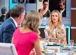 Charlotte Hawkins, Piers Morgan and Susanna Reid with Michaella McCollum. Photo by Ken McKay/ITV/REX/Shutterstock (10473625bf)