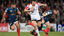 Ulster's Tommy Bowe gets away from the Scarlets