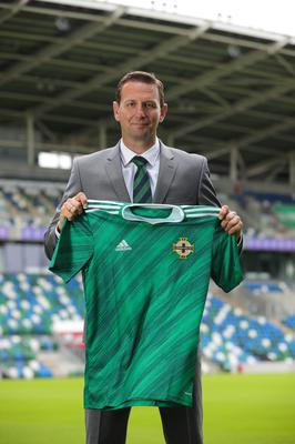 Press Eye - Belfast - Northern Ireland - 30th June 2020  New Northern Ireland football manager Ian Baraclough pictured at the National Stadium in Belfast.  Photo by  Kelvin Boyes  / Press Eye
