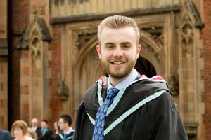 Graduation success for Oliver Beck from Bangor who has received a Masters in Electrical and Electronic Engineering from Queen's University Belfast.