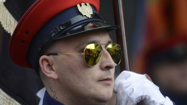 PACEMAKER BELFAST  13/07/2015  Bands men during  The 12th of July Parades Belfast City on Monday  to commemorate protestant King William of Orange's victory over Catholic King James II at the Battle of the Boyne in 1690. Photo Colm Lenaghan/Pacemaker Press