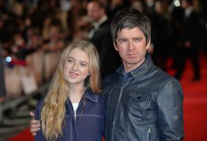 Anais, with her rock star father Noel