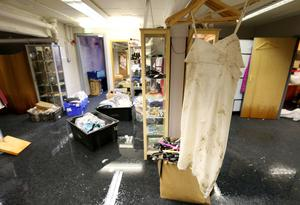 The Boudoir designer boutique in Dungannon which was damaged by flooding during Storm Desmond. Pic: Matt Mackey/Press Eye.