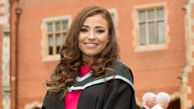 Ella Quinn celebrates graduation success at Queens University Belfast as she graduates with a degree in Pharmacy