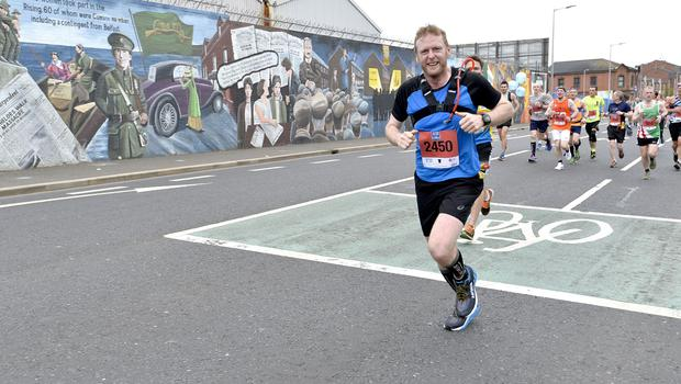 7th May 2018 37th Deep RiverRock Belfast City Marathon  Peter Morrison  pictured at the marathon  Mandatory Credit ©Presseye/Stephen Hamilton