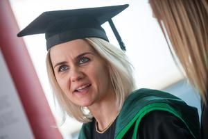 No Fee for Reproduction  Graduating from the Ulster University today with a degree in Socia Work is Sam Ross from Derry.  Picture Martin McKeown. Inpresspics.com. 20.06.15