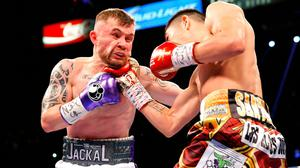 Carl Frampton during his fight with Leo Santa Cruz in Las Vegas