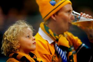CARDIFF, WALES - SEPTEMBER 23:  Australia fans look on prior to kickoff during the 2015 Rugby World Cup Pool A match between Australia and Fiji at the Millennium Stadium on September 23, 2015 in Cardiff, United Kingdom.  (Photo by Laurence Griffiths/Getty Images)