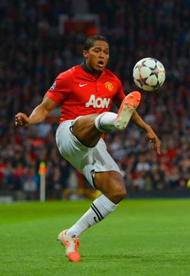 MANCHESTER, ENGLAND - APRIL 01:  Luis Antonio Valencia of Manchester United controls the ball during the UEFA Champions League Quarter Final first leg match between Manchester United and FC Bayern Muenchen at Old Trafford on April 1, 2014 in Manchester, England.  (Photo by Michael Regan/Bongarts/Getty Images)