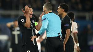 Paris St Germain were 12 points clear at the top of the table (John Walton/PA)