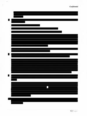 Responding to a Freedom of Information request from an EU watchdog regarding contacts between officials and the tobacco industry, the European Commission released a set of documents that had been so heavily redacted as to be meaningless. In this 14-page letter from British American Tobacco from its London HQ, outlining its serious concerns with the consistency of [redacted], only five per cent of the text was visible.