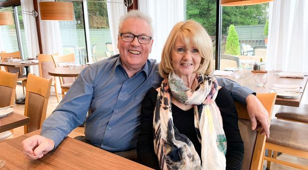 Joy and tragedy: Eric McMordie with his wife Sandra
