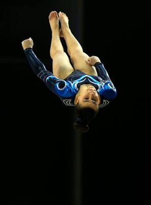 Claudia Fragapane on the vault during the Artistic Gymnastics British Championships 2016 at the Echo Arena, Liverpool. PRESS ASSOCIATION Photo. Picture date: Sunday April 10, 2016. See PA story GYMNASTICS British. Photo credit should read: Nigel French/PA Wire. RESTRICTIONS: EDITORIAL USE ONLY, NO COMMERCIAL USE WITHOUT PRIOR PERMISSION, PLEASE CONTACT PA IMAGES FOR FURTHER INFO: Tel: +44 (0) 115 8447447.