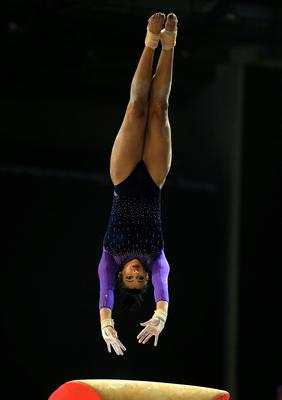 Elissa Downie on the vault during the Artistic Gymnastics British Championships 2016 at the Echo Arena, Liverpool. PRESS ASSOCIATION Photo. Picture date: Sunday April 10, 2016. See PA story GYMNASTICS British. Photo credit should read: Nigel French/PA Wire. RESTRICTIONS: EDITORIAL USE ONLY, NO COMMERCIAL USE WITHOUT PRIOR PERMISSION, PLEASE CONTACT PA IMAGES FOR FURTHER INFO: Tel: +44 (0) 115 8447447.
