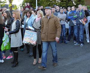 A vigil was held last night in memory of murder victim Eamonn Magee. The agony bears heavily on his distraught parents Mary and Eamonn senior