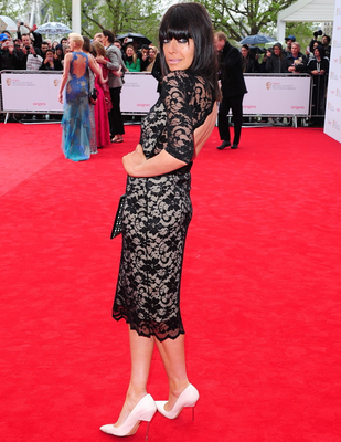Claudia Winkleman arriving for the 2013 Arqiva British Academy Television Awards at the Royal Festival Hall, London. PRESS ASSOCIATION Photo. Picture date: Sunday May 12, 2013. See PA story SHOWBIZ Bafta. Photo credit should read: Ian West/PA Wire