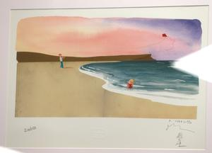 A picture given to the The Duke of Cambridge for Princess Charlotte by artist Oliver Jeffers during a visit to the Inspire social enterprise charity in Belfast. PRESS ASSOCIATION Photo. Picture date: Wednesday October 4, 2017. William visited the charity in the city centre, where he met mental health counsellors and service users before officially opening the charity's new offices. Niall carson/PA Wire