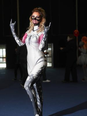 Erica Henderson as Gwenom at the Showtime Comic Con at the Titanic Exhibition centre, Belfast. (Photo by Colm O'Reilly, Sunday Life)