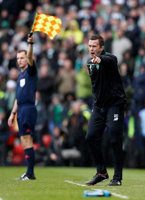 Celtic's manager Ronny Deila during the William Hill Scottish Cup semi-final match at Hampden Park, Glasgow. PRESS ASSOCIATION Photo. Picture date: Sunday April 17, 2016. See PA story SOCCER Rangers. Photo credit should read: Danny Lawson/PA Wire. EDITORIAL USE ONLY