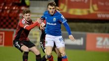 Smart returns: David Healy is hoping to welcome Joel Cooper back to the Linfield fold this evening