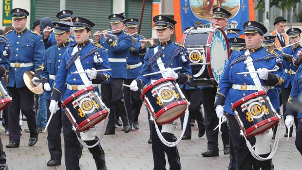 Ballywillan Flute smartly turned out at Coleriane Twelfth.PICTURE MARK JAMIESON.