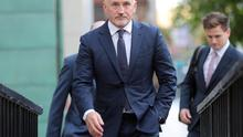 Barry McGuigan arrives at Belfast High Court on Tuesday.