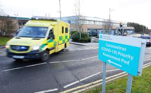 Press Eye - Belfast - Northern Ireland - 18th January 2021  General view of Antrim Area Hospital Emergency Department.  Hospitals in Northern Ireland are coming under increasing pressure as the number of COVID-19 patients has sharply increased in the last number of weeks.   Picture by Jonathan Porter/PressEye
