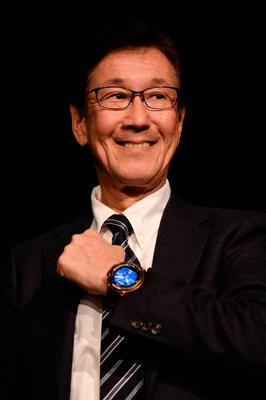 LAS VEGAS, NV - JANUARY 04:  Casio Computer Senior Executive Managing Officer Yuichi Masuda displays a Casio Pro Trek Smart WSD-F20 watch during a press event for CES 2017 at the Mandalay Bay Convention Center on January 4, 2017 in Las Vegas, Nevada. CES, the world's largest annual consumer technology trade show, runs from January 5-8 and is expected to feature 3,800 exhibitors showing off their latest products and services to more than 165,000 attendees.  (Photo by David Becker/Getty Images)