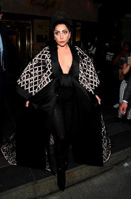 NEW YORK, NY - MAY 04:  Lady Gaga  departs for the MET Gala 2015 from The Carlyle on May 4, 2015 in New York City.  (Photo by Ilya S. Savenok/Getty Images for The Carlyle)