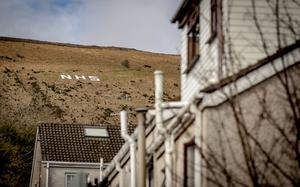 NHS spelt out on the Black Mountain to show support to NHS workers during the coronavirus pandemic in Belfast on Friday, March 27th 2020 (Photo by Kevin Scott for Belfast Telegraph)
