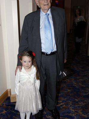 Seamus Mallon Pictured with his granddaughter Lara Lenny. Pacemaker