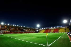 A general view of the stadium prior to kickoff during the Barclays Premier League match between Watford and Chelsea at Vicarage Road on February 3, 2016 in Watford, England.  (Photo by Richard Heathcote/Getty Images)
